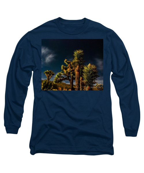 Long Sleeve T-Shirt featuring the photograph Night Desert by Angela J Wright
