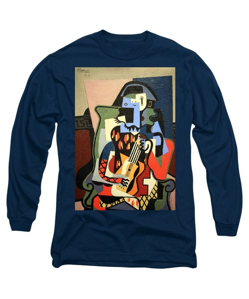Picasso's Harlequin Musician Long Sleeve T-Shirt