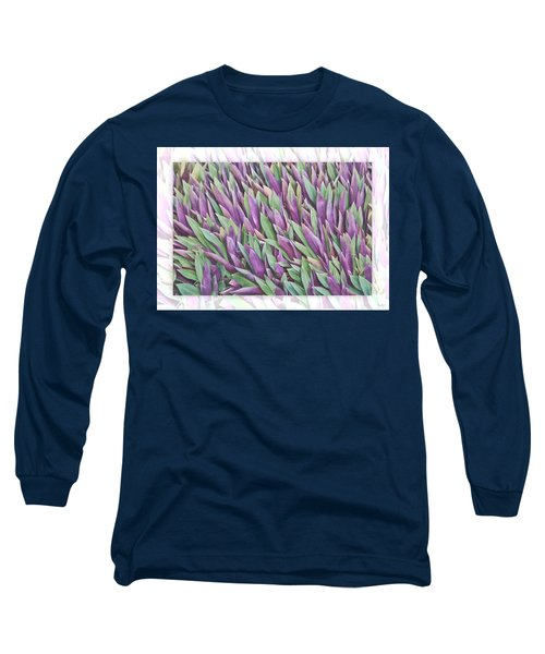 Purple And Green Long Sleeve T-Shirt by Holly Kempe