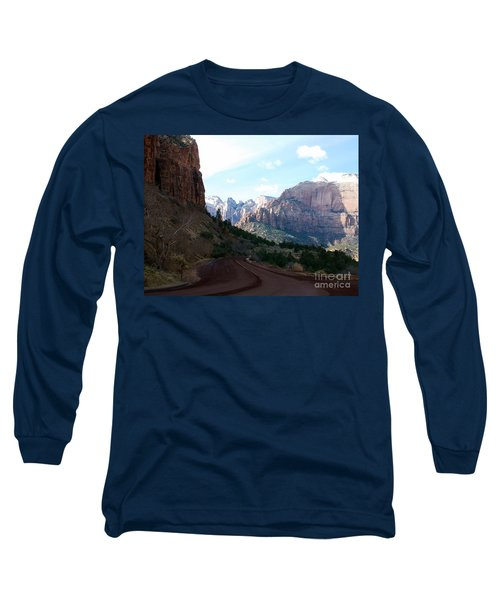 Road Through Zion National Park Long Sleeve T-Shirt