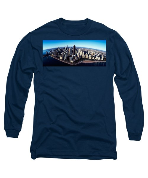 Skyscrapers In A City, Lake Shore Long Sleeve T-Shirt