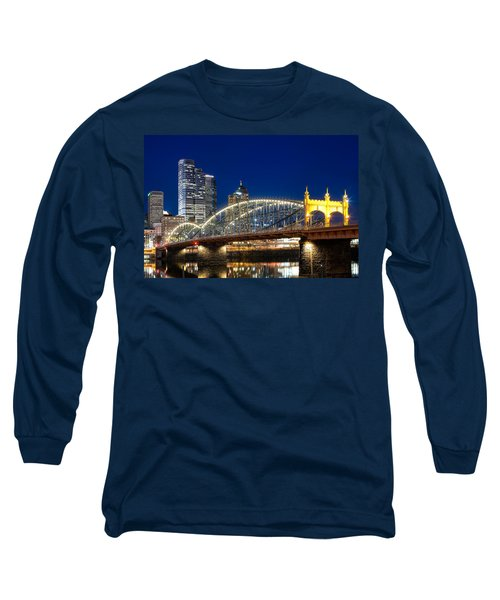 Smithfield Street Bridge Long Sleeve T-Shirt by Emmanuel Panagiotakis