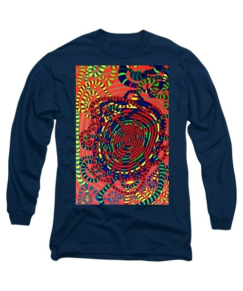 Long Sleeve T-Shirt featuring the painting Polar Shift. by Jonathon Hansen
