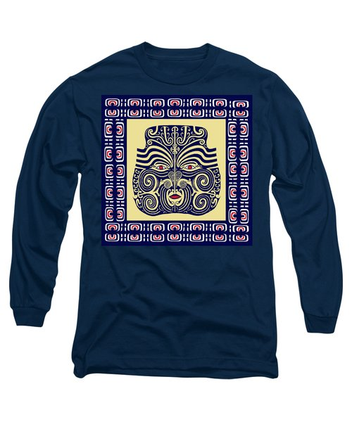 Long Sleeve T-Shirt featuring the digital art Marquesas Tribal Spirits by Vagabond Folk Art - Virginia Vivier