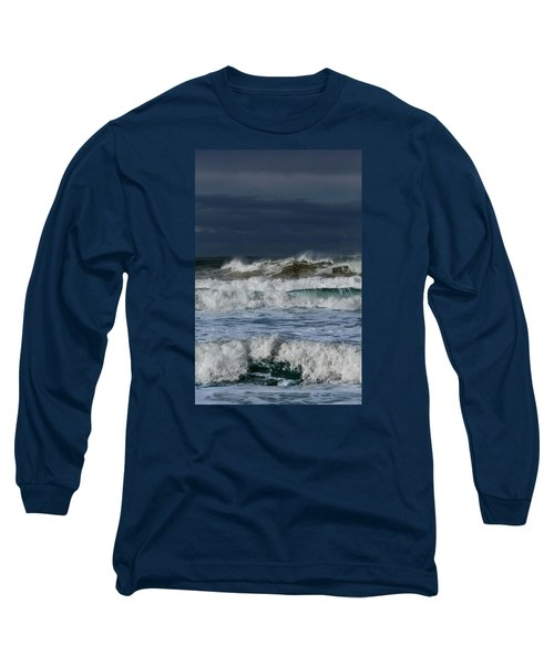 Long Sleeve T-Shirt featuring the photograph Wave After Wave by Edgar Laureano