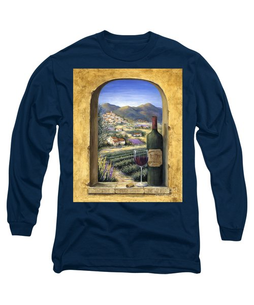 Wine And Lavender Long Sleeve T-Shirt