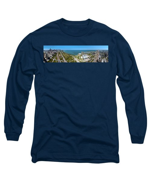 180 Degree View Of A City, Lake Long Sleeve T-Shirt by Panoramic Images