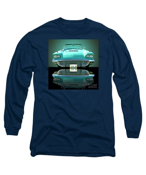 1959 Ford T Bird Long Sleeve T-Shirt by Jim Carrell