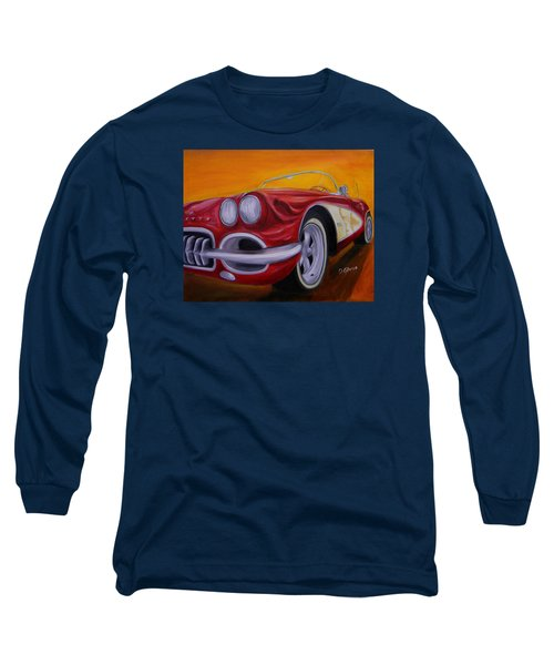 1960 Corvette - Red Long Sleeve T-Shirt
