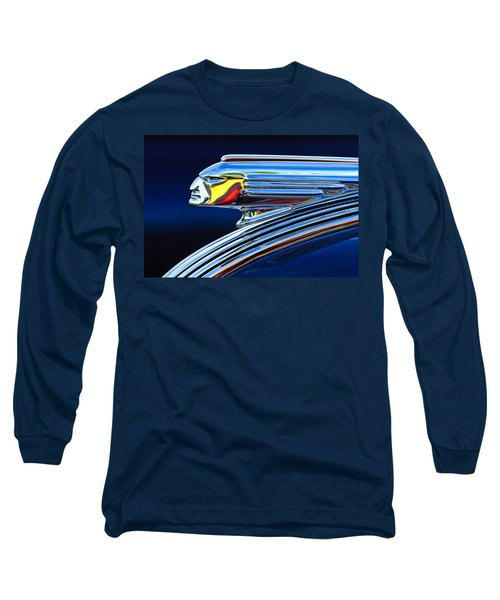 1939 Pontiac Silver Streak Chief Hood Ornament Long Sleeve T-Shirt by Jill Reger