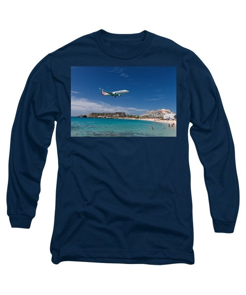 American Airlines At St Maarten Long Sleeve T-Shirt