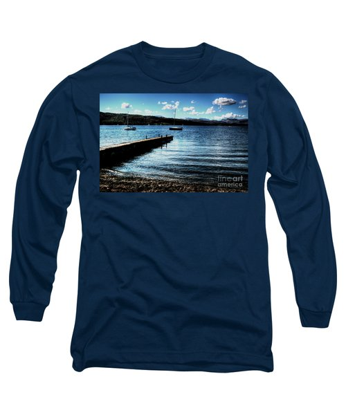 Long Sleeve T-Shirt featuring the photograph Boats In Wales by Doc Braham