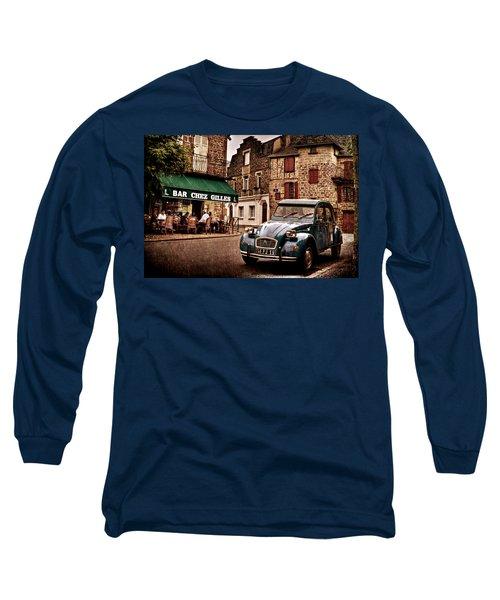 Citroen 2cv In French Village / Meyssac Long Sleeve T-Shirt
