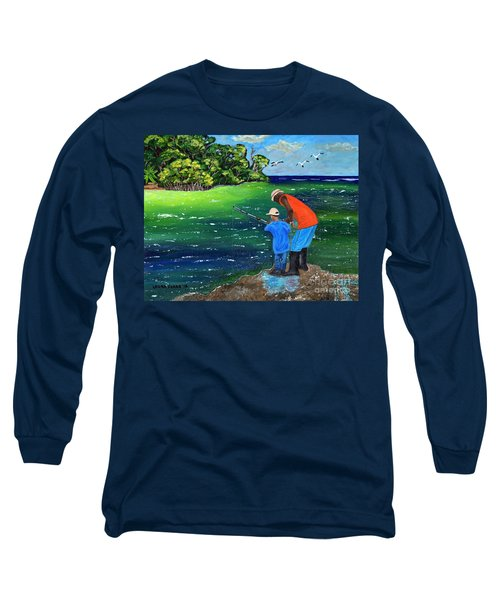 Fishing Buddies Long Sleeve T-Shirt by Laura Forde