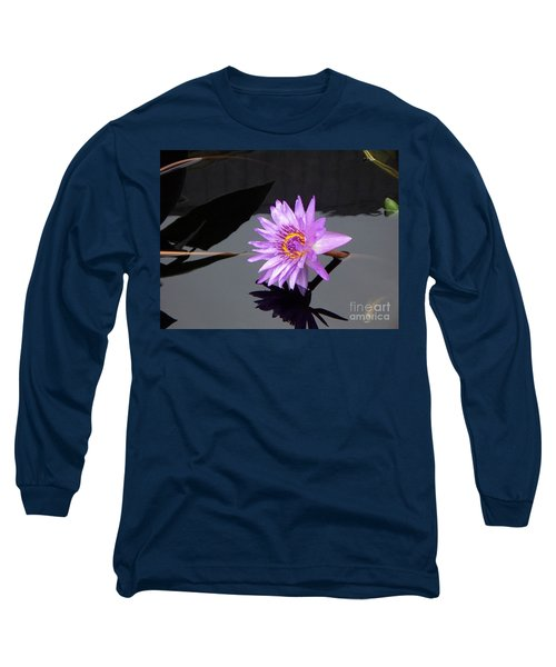 Lavender Lily Long Sleeve T-Shirt by Eric  Schiabor