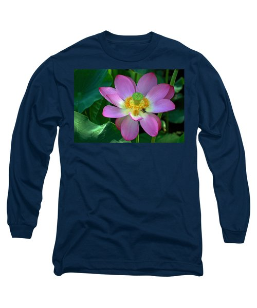 Long Sleeve T-Shirt featuring the photograph Lotus Flower by Jerry Gammon