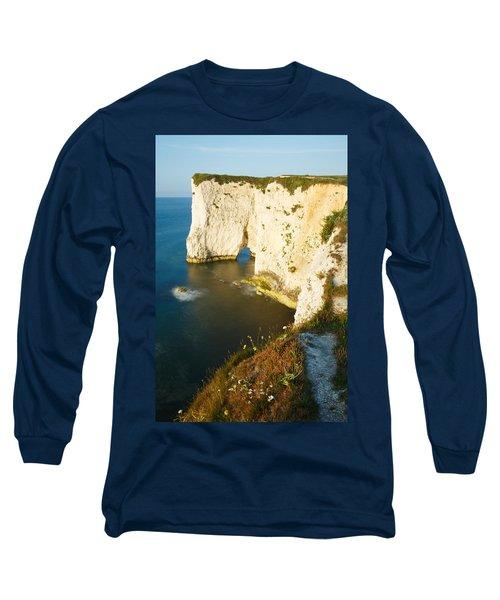 Morning Light At Old Harry Rocks Long Sleeve T-Shirt