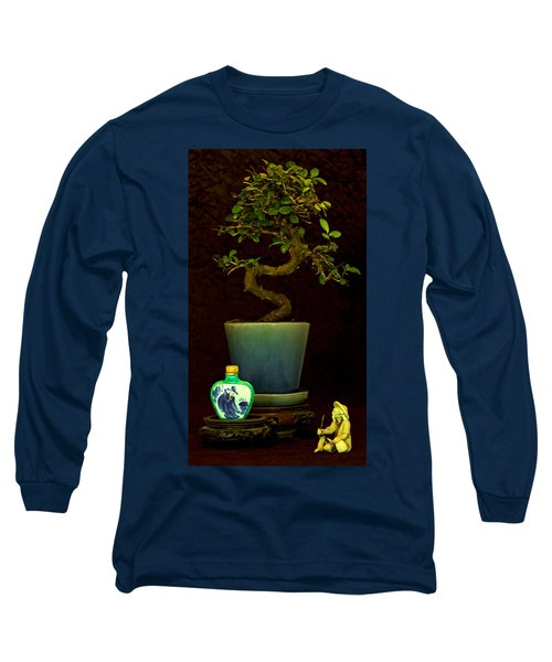 Long Sleeve T-Shirt featuring the photograph Old Man And The Tree by Elf Evans