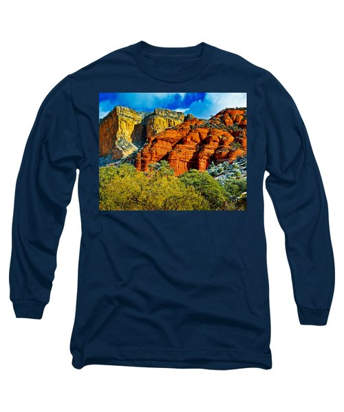 Long Sleeve T-Shirt featuring the photograph Sedona Arizona - Wilderness Area by Bob and Nadine Johnston