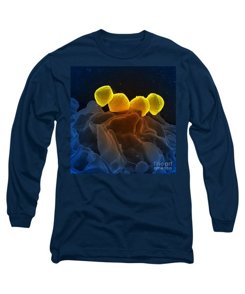 Streptococcus Pyogenes Bacteria Sem Long Sleeve T-Shirt