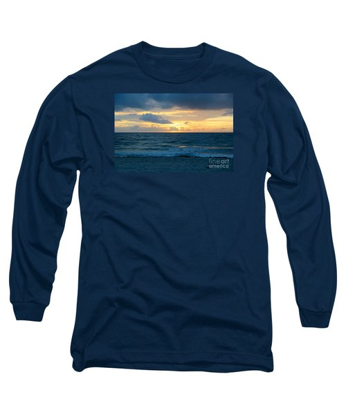 Long Sleeve T-Shirt featuring the photograph Sunrise In Deerfield Beach by Rafael Salazar
