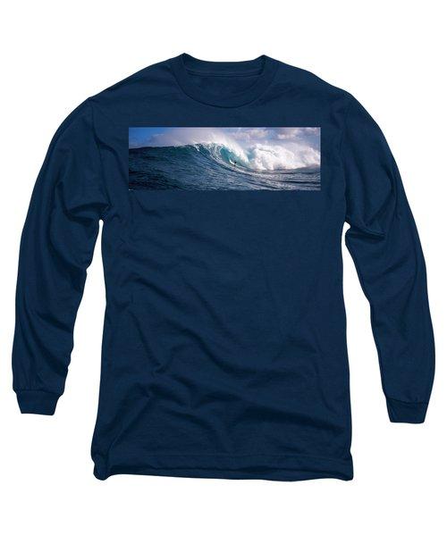 Surfer In The Sea, Maui, Hawaii, Usa Long Sleeve T-Shirt