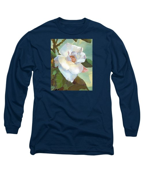 Unicorn In The Garden Long Sleeve T-Shirt by J L Meadows