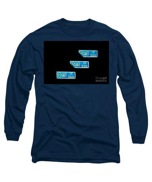 Long Sleeve T-Shirt featuring the photograph 2nd Street Long Beach by Mariola Bitner