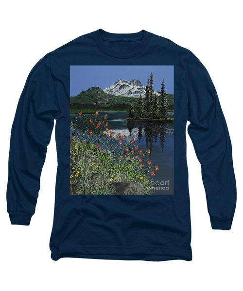 Long Sleeve T-Shirt featuring the painting A Peaceful Place by Jennifer Lake