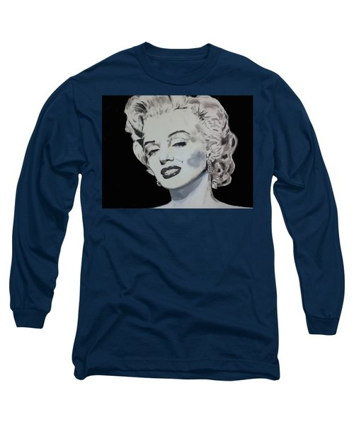 Marilyn Monroe Long Sleeve T-Shirt by Dan Twyman