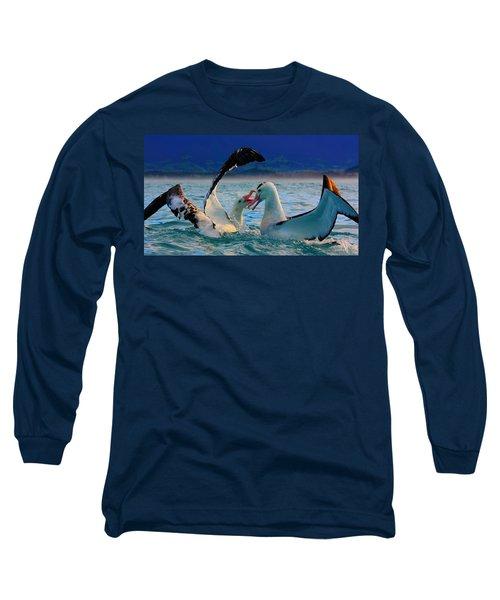 Wandering Albatross Long Sleeve T-Shirt by Amanda Stadther
