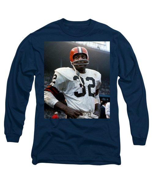 #32 Jim Brown Long Sleeve T-Shirt