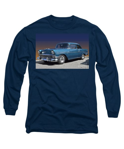 Long Sleeve T-Shirt featuring the photograph 56 Chevy by Robert Meanor