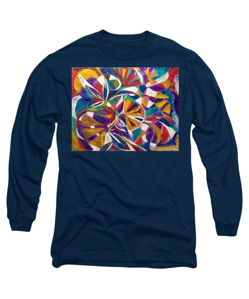 7th Chakra Meditation Long Sleeve T-Shirt