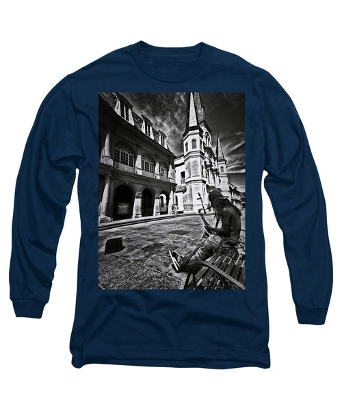 Long Sleeve T-Shirt featuring the photograph A Buck At A Time by Robert McCubbin