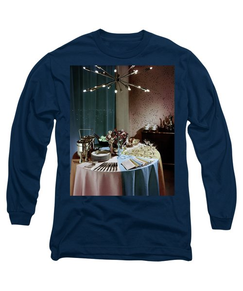 A Buffet Table At A Party Long Sleeve T-Shirt