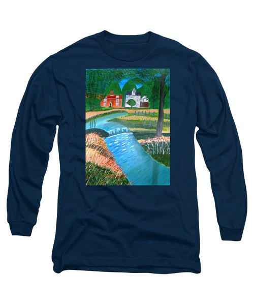 A Country Stream Long Sleeve T-Shirt by Magdalena Frohnsdorff