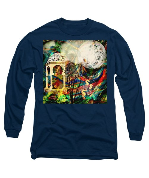 Long Sleeve T-Shirt featuring the mixed media A Day In The Park by Ally  White