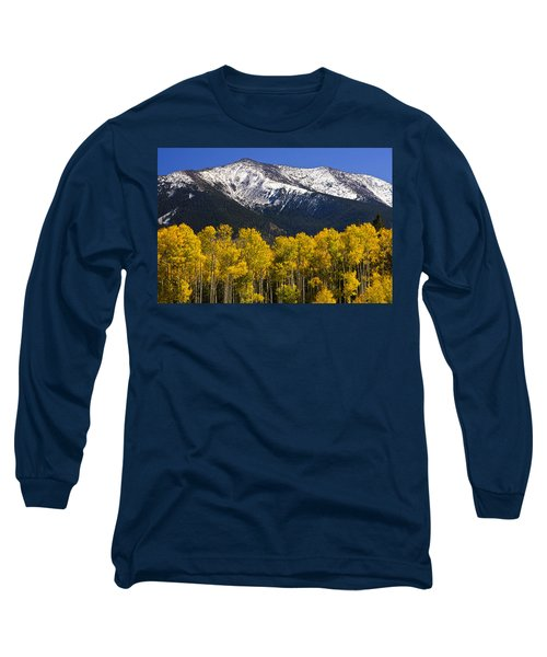 A Dusting Of Snow On The Peaks Long Sleeve T-Shirt by Saija  Lehtonen