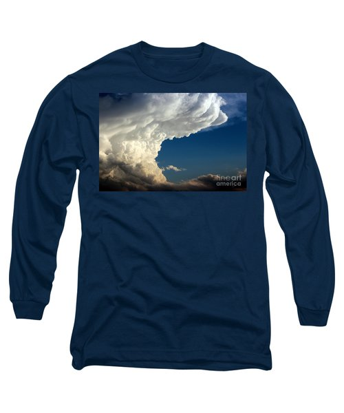 Long Sleeve T-Shirt featuring the photograph A Face In The Clouds by Barbara Chichester