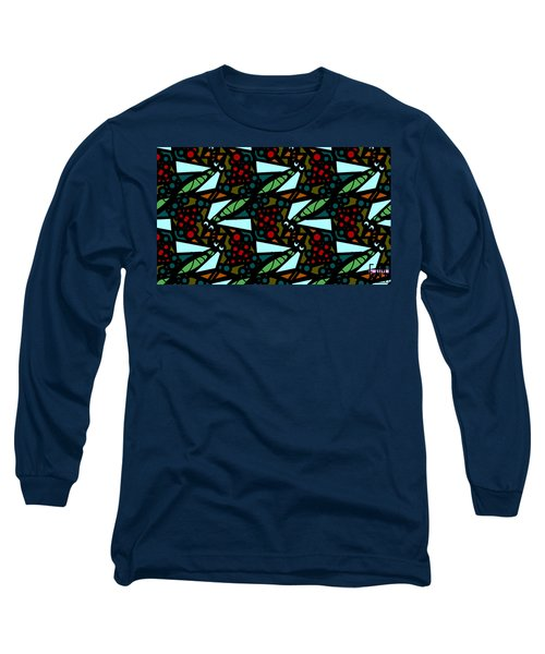Long Sleeve T-Shirt featuring the digital art A Fly Of Sorts And Berries by Elizabeth McTaggart