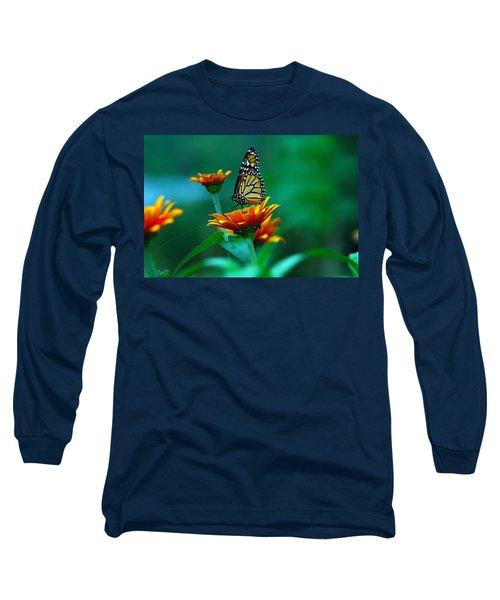 Long Sleeve T-Shirt featuring the photograph A Monarch by Raymond Salani III