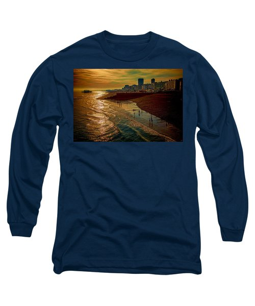 Long Sleeve T-Shirt featuring the photograph A September Evening In Brighton by Chris Lord