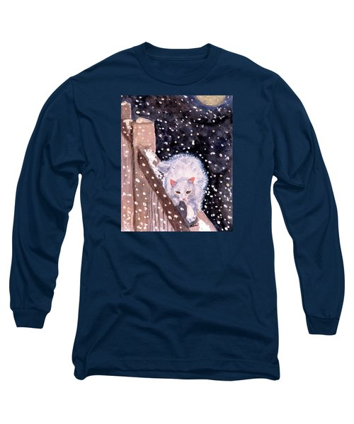 Long Sleeve T-Shirt featuring the painting A Silent Journey by Angela Davies