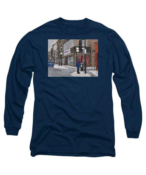A Snowy Day On Wellington Long Sleeve T-Shirt
