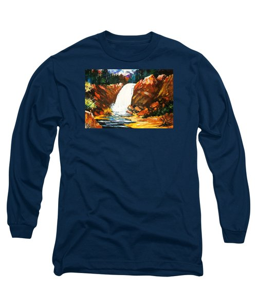Long Sleeve T-Shirt featuring the painting A Spout In The Forest by Al Brown