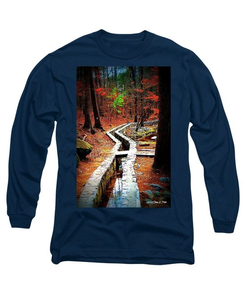 Long Sleeve T-Shirt featuring the photograph A Walk Through The Woods by Tara Potts