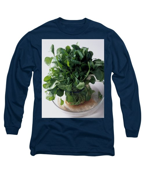 A Watercress Plant In A Bowl Of Water Long Sleeve T-Shirt
