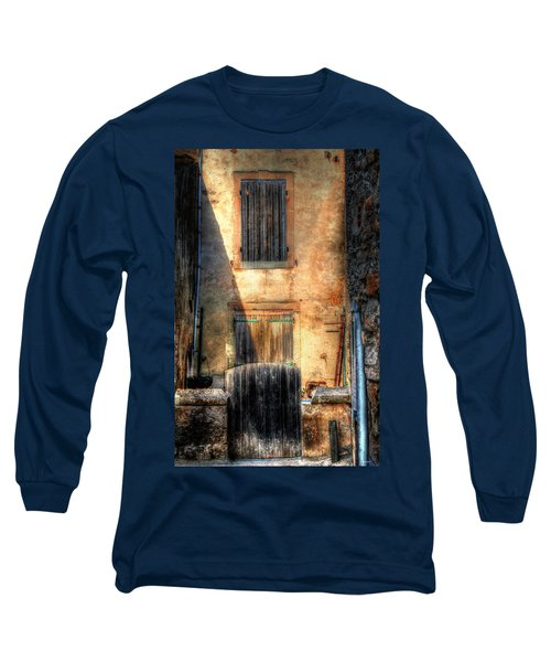 Long Sleeve T-Shirt featuring the photograph A Yard In France by Tom Prendergast