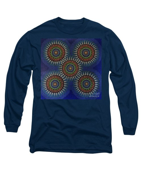 Long Sleeve T-Shirt featuring the painting Aboriginal Inspirations 16 by Mariusz Czajkowski
